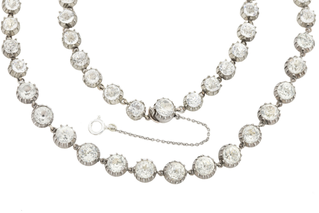 Georgian Paste Riviere Necklace, 17""
