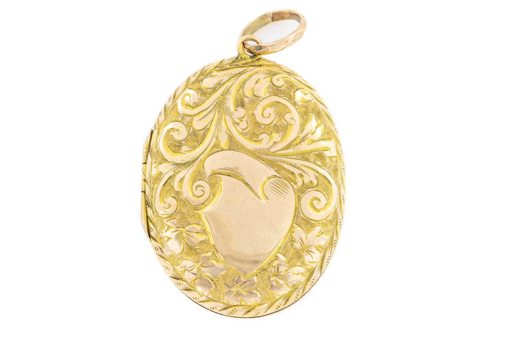 Antique Gold Oval Locket c.1883