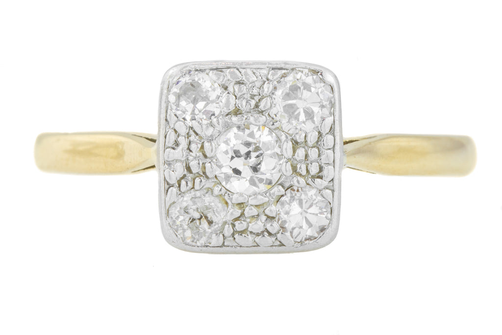 18ct Gold Platinum Art Deco Diamond Engagement Ring
