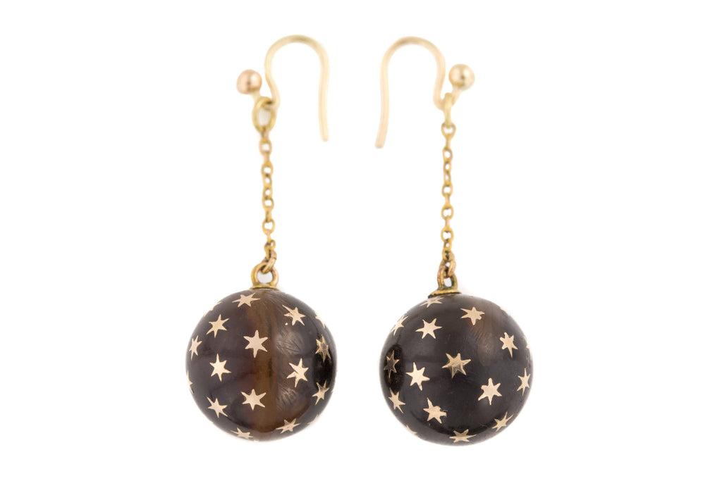 Antique Pique Gold Star Earrings