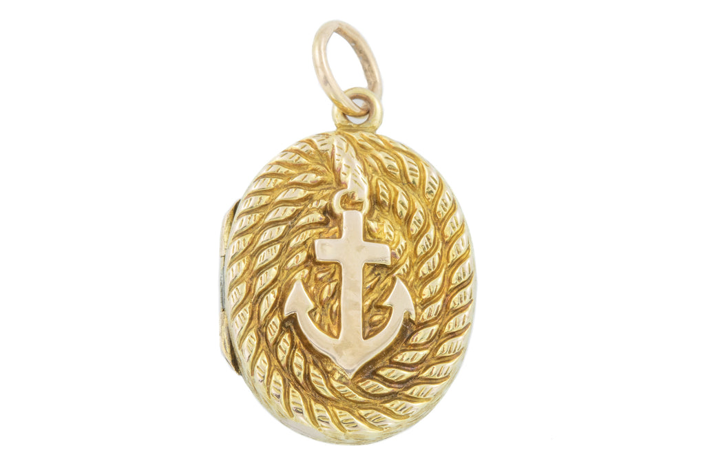 Antique 15ct Gold Anchor Locket