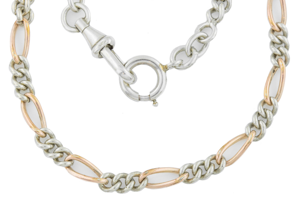 French Antique Silver and Gold Chain