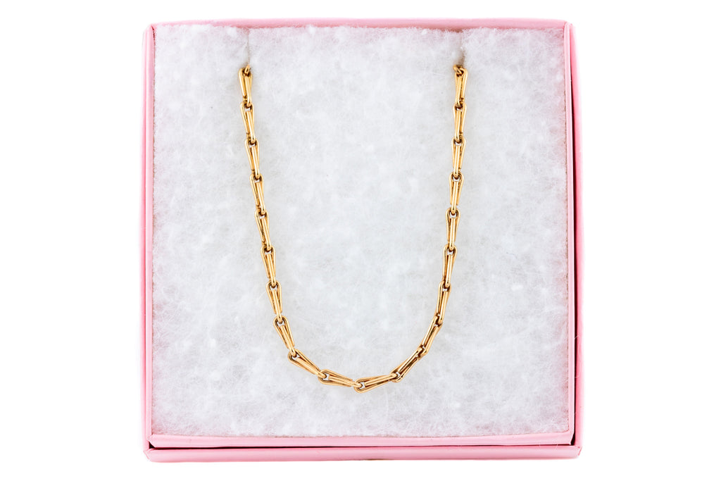 Antique Rose Gold Paperclip Necklace, 18 & 3/8""