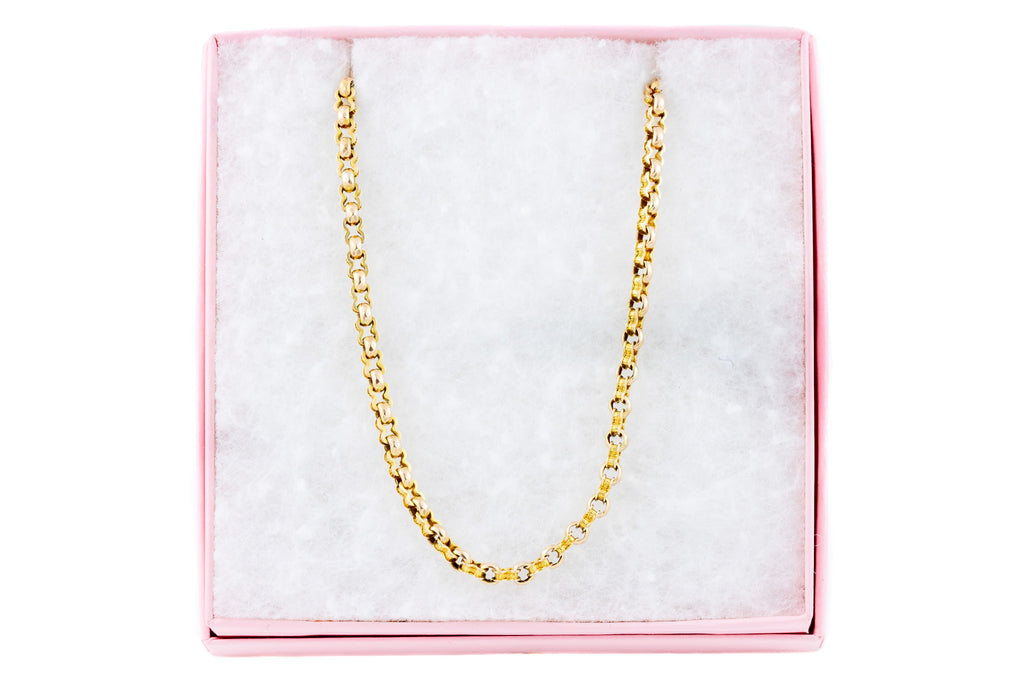 "Victorian 9ct Gold Fancy Belcher Chain, 21.5"" (10.2g)"