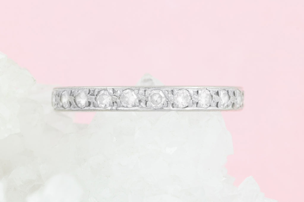 Art Deco Diamond Eternity Band in 18ct White Gold
