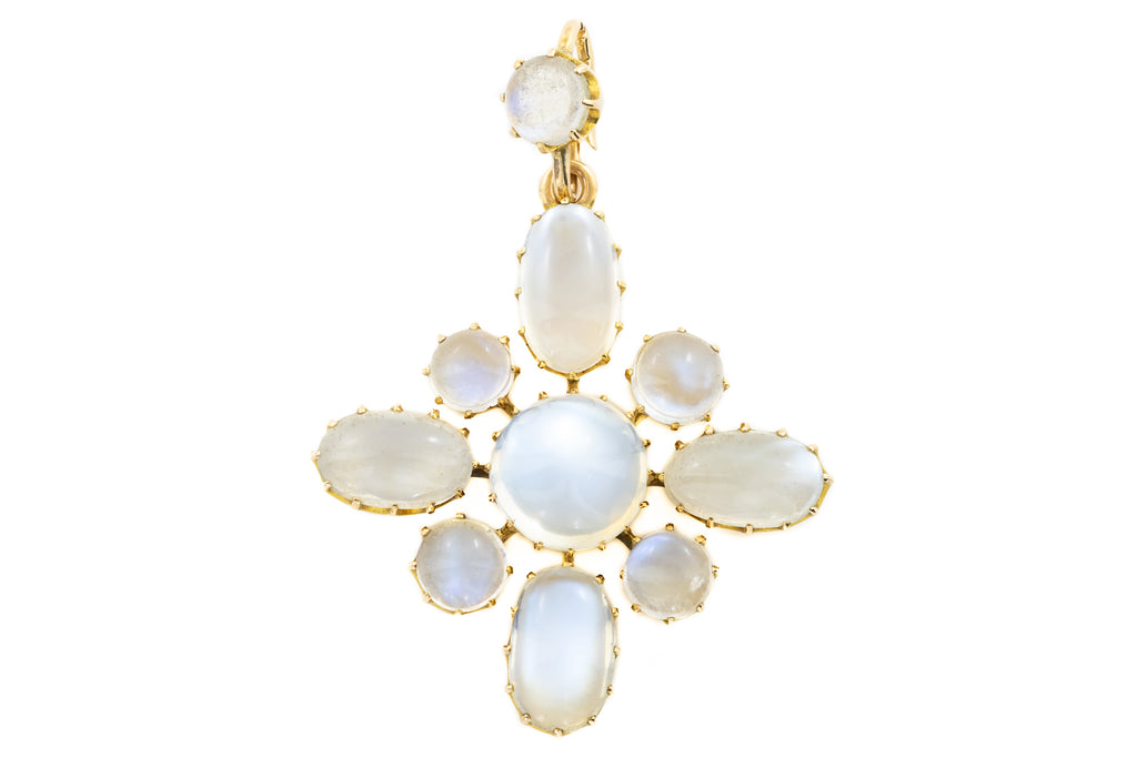 15ct Gold Antique Moonstone Pendant (19.02ct)