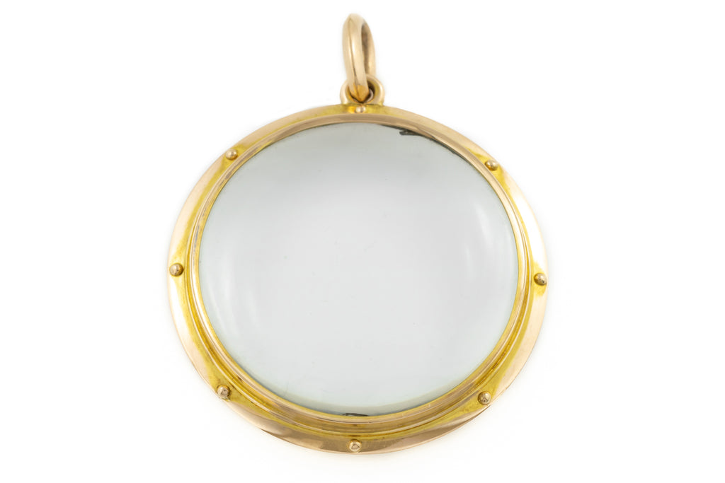 Antique 15ct Gold Double Sided 'Porthole' Locket