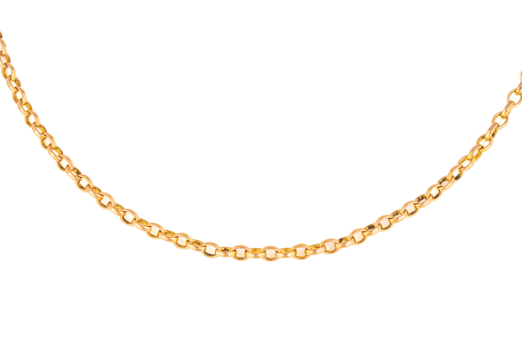 "Antique Gold Chunky Belcher Chain, 31"" (21.2g)"