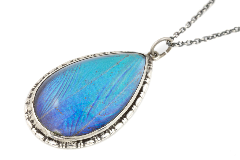 "Art Deco Butterfly Wing Pendant, with Adjustable 16"" or 18"" Chain"