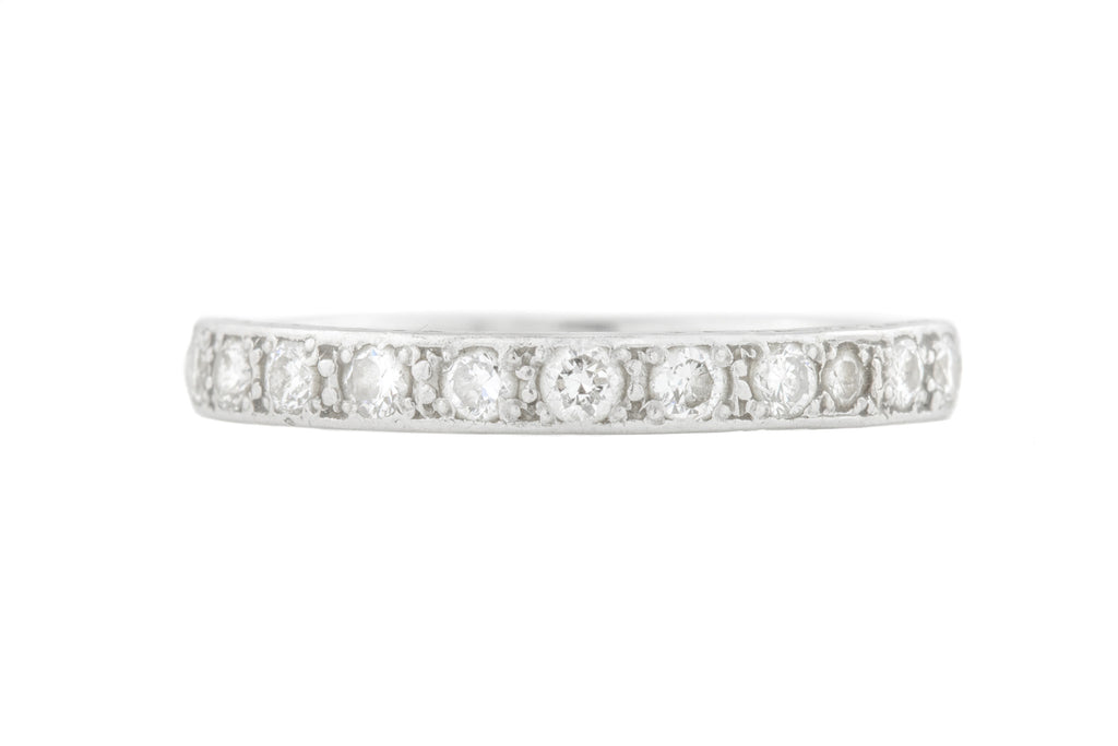 Art Deco Platinum Diamond Wedding Band (0.33ct)