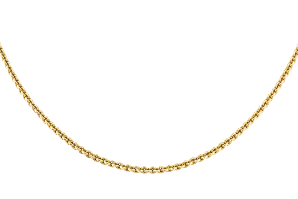 "Antique 15ct Gold Belcher Chain, 18.5"" (11.7g)"