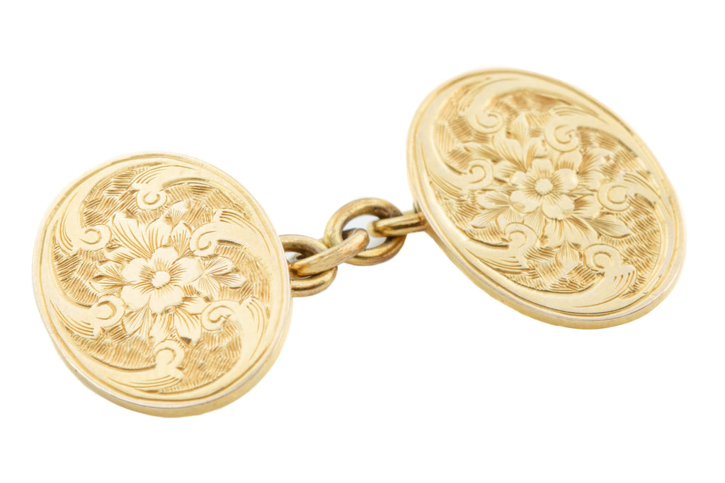 Antique 10ct Gold Cufflinks c.1900