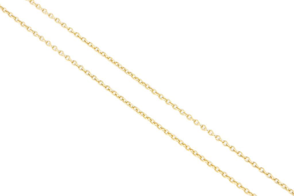 "Antique Gold Pendant Chain, 24 & 1/2"" (4.1g)"