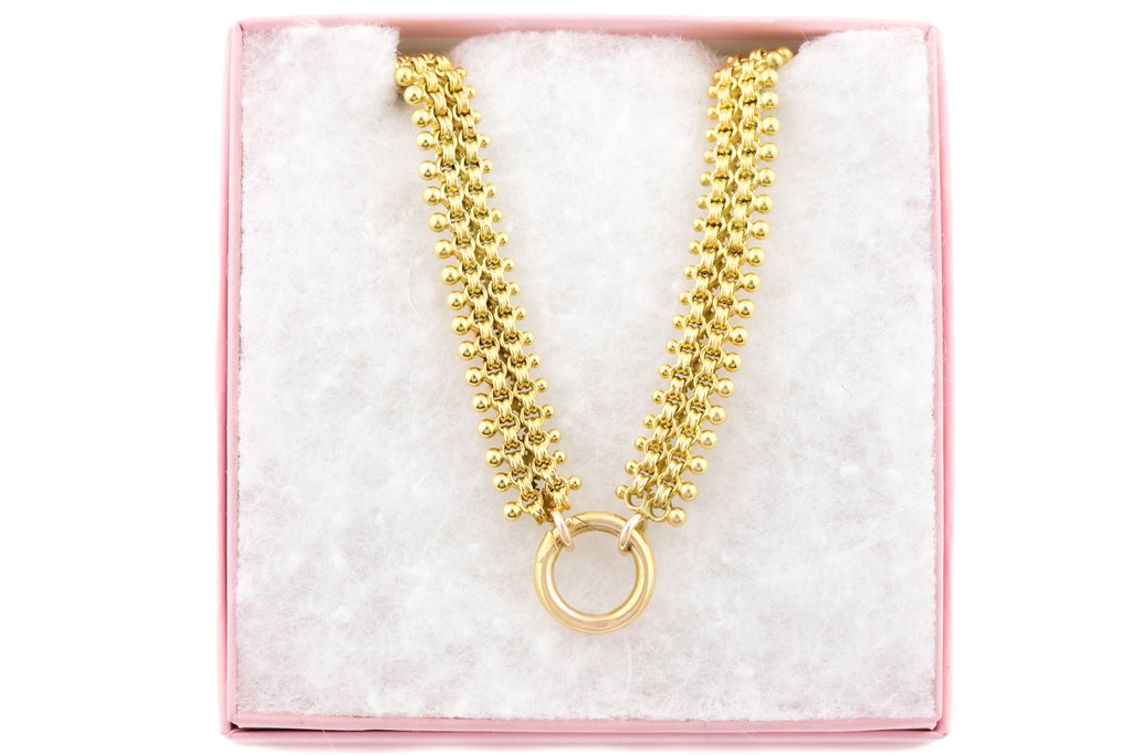 "Victorian 18ct Gold Book Chain, 16"" (26g)"