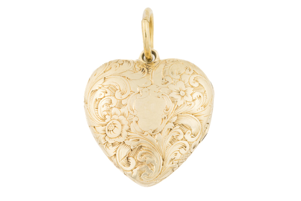 Antique 15ct Gold Heart Locket