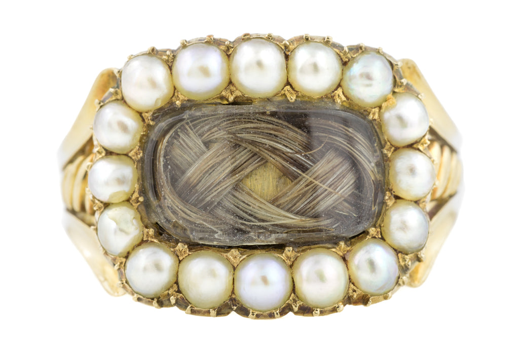 Rare Georgian 15ct Gold Mourning Ring c.1821