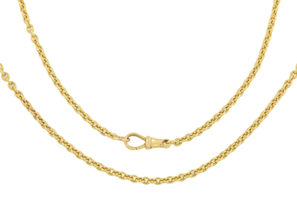Edwardian 18ct Gold Chain Necklace, 20""