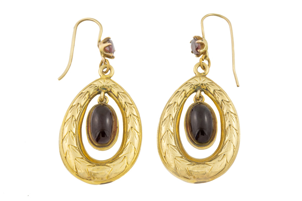 Victorian Gold Garnet Earrings (8.88ct)