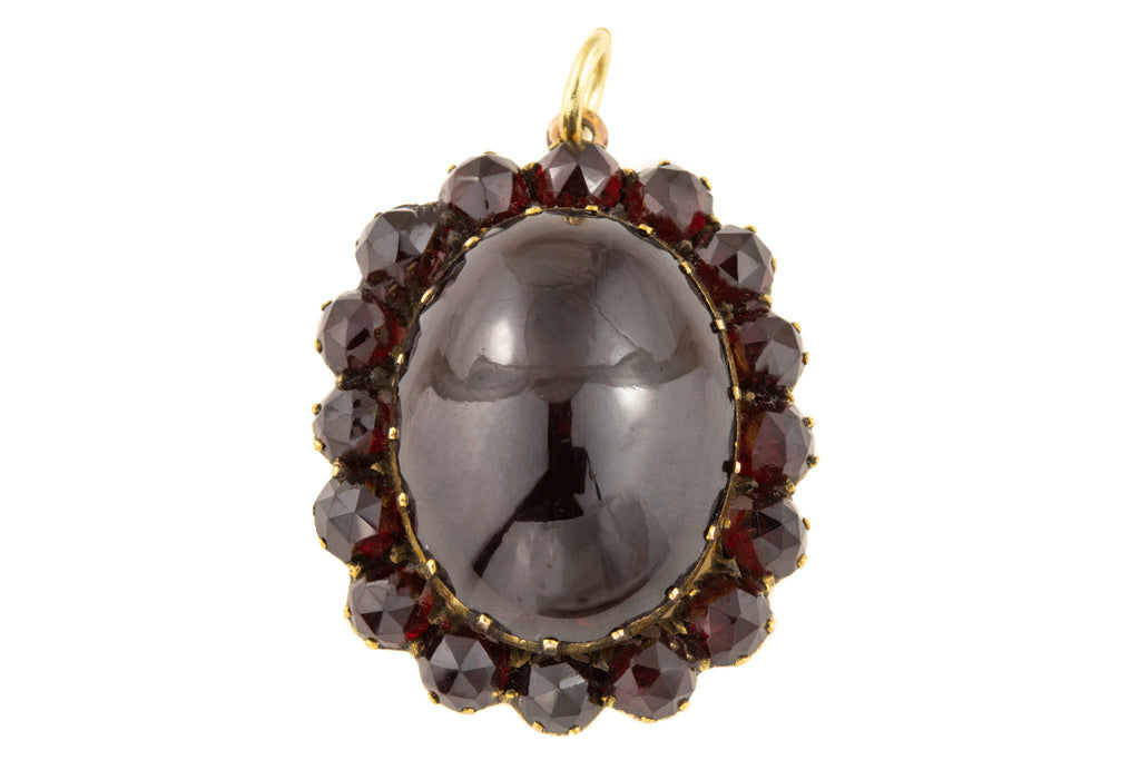 Antique Garnet Cluster Pendant, (18.46ct)