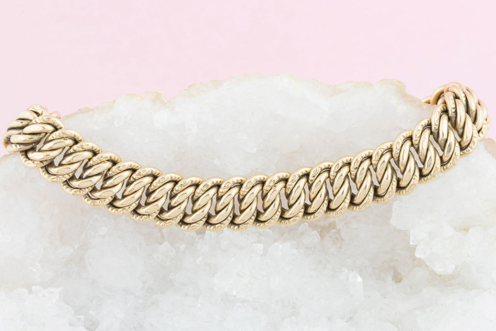 Antique French Gold FIX Woven Bracelet