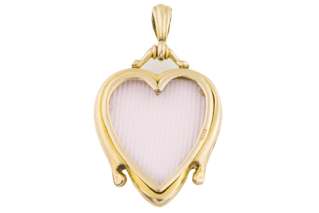 Gold Heart Art Nouveau Locket