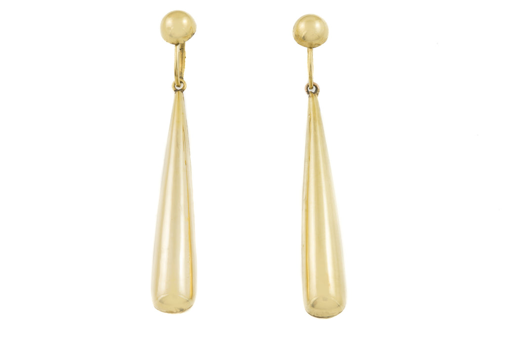 Georgian 15ct Gold Torpedo Earrings