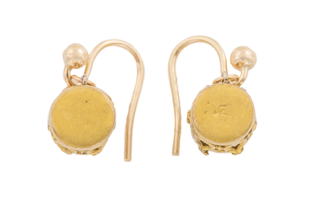 Art Nouveau Paste Drop Earrings
