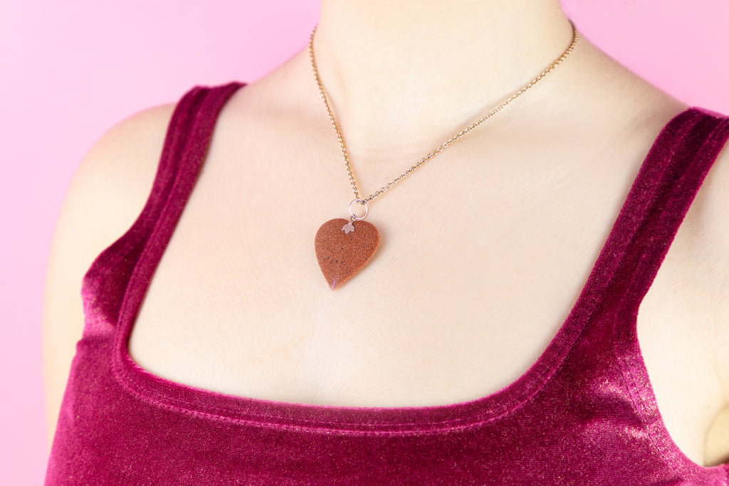 Georgian 15ct Goldstone Heart Pendant