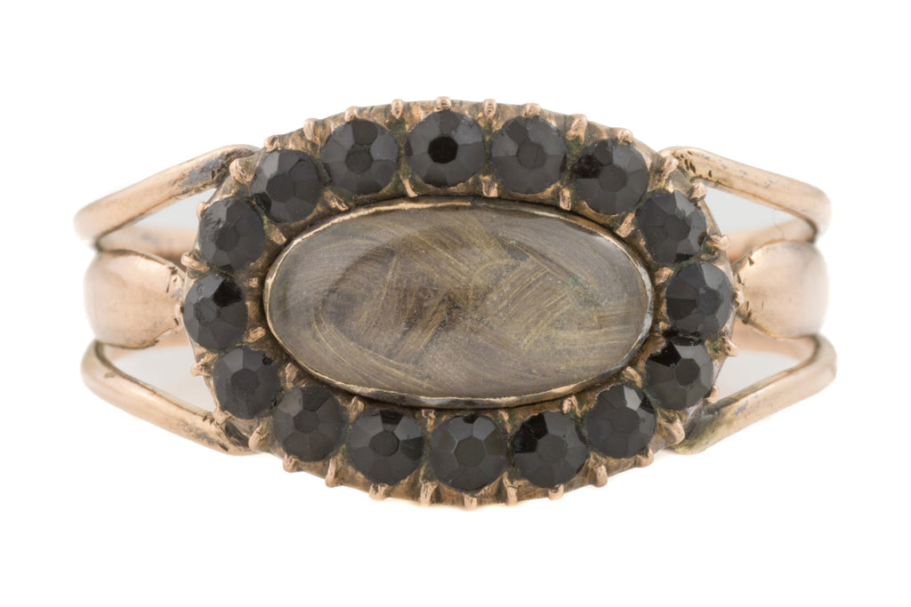 Georgian Jet Gentleman's Mourning Ring c.1807