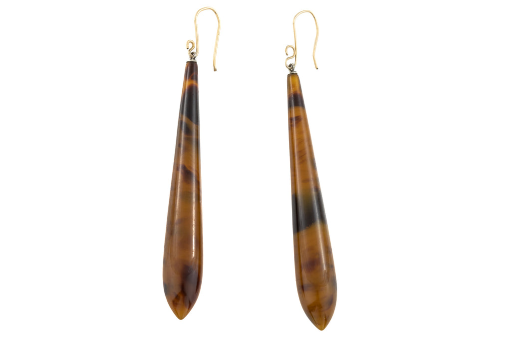 Lucite Torpedo Drop Earrings