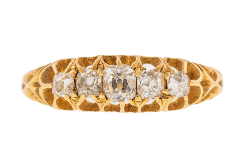 Antique 18ct Gold Old Cut Diamond Ring (0.48cts)