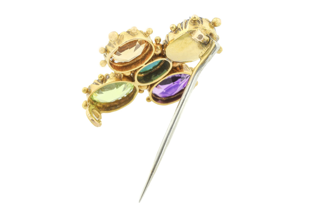 Georgian 18ct Gold Harlequin Brooch