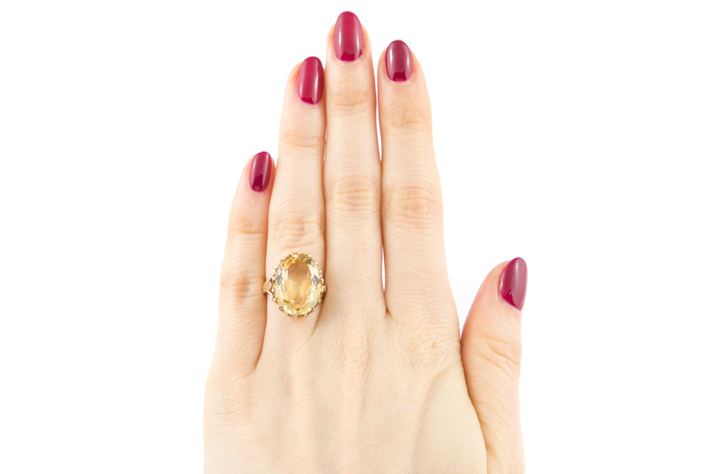 Gold Citrine Dress Ring (5.45ct)