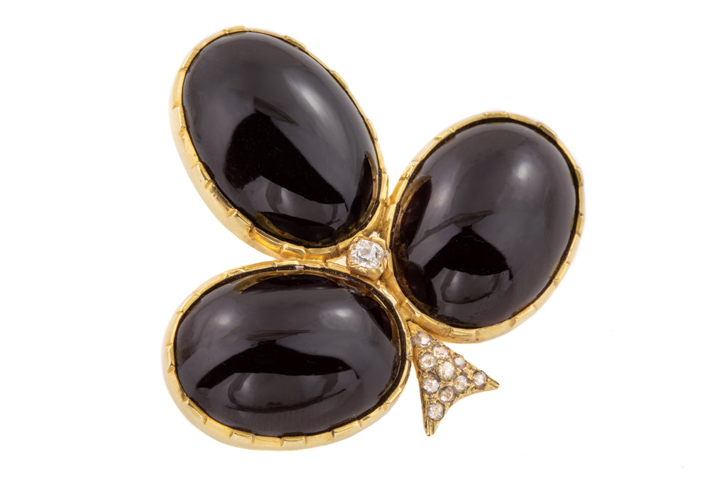 Victorian Garnet Diamond Brooch Pendant (68.8ct)