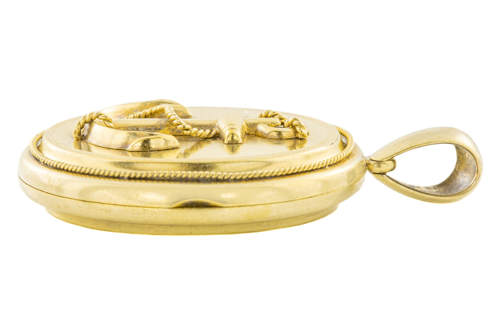 Victorian 15ct Gold Anchor Locket