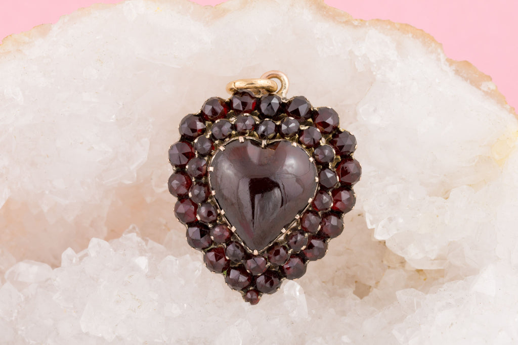 Antique Garnet Heart Pendant (6.72)