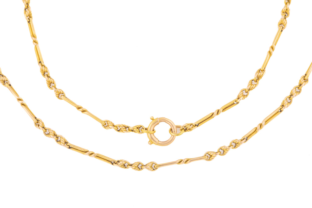 "Antique 15ct Gold Fancy Links Chain, 18"" (11.3g)"