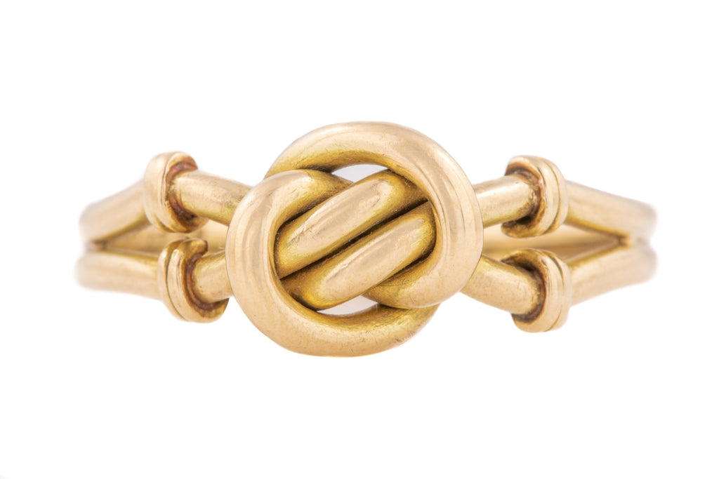 Antique 18ct Gold Knot Ring c.1899