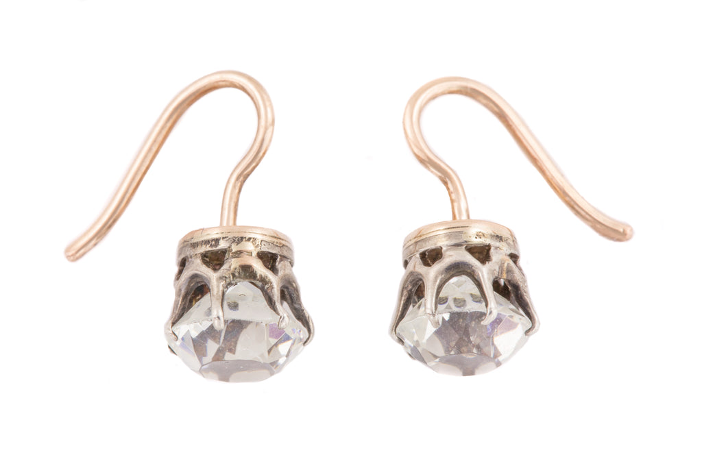 Victorian Diamond Paste Dormeuse Earrings