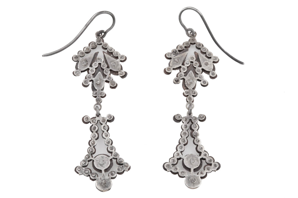 Georgian Cut Steel Drop Earrings