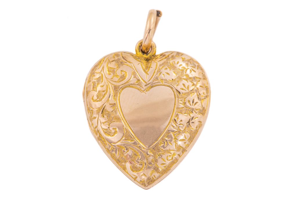 Edwardian Gold Heart Locket, c.1903