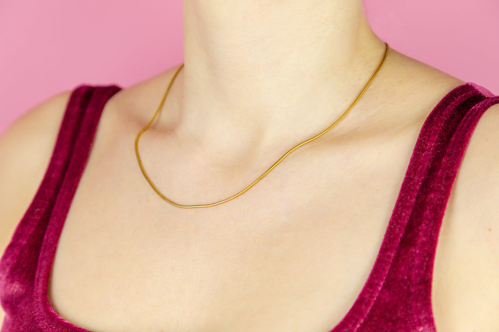 "15ct Gold Antique Snake Chain, 17.5"" (4.4g)"