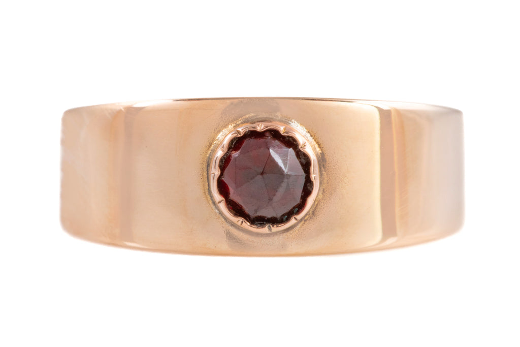 Victorian Gold Garnet Stacking Ring, (0.20ct)