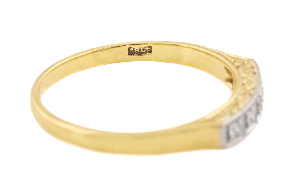 Art Deco 18ct Gold Diamond Wedding Band