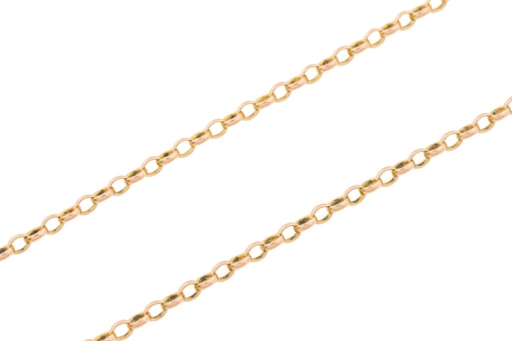 "Antique Rose Gold Belcher Chain with Large Bolt Ring, 27"" (14.5g)"