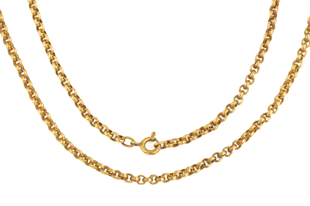 Antique Gold Belcher Chain, 24""
