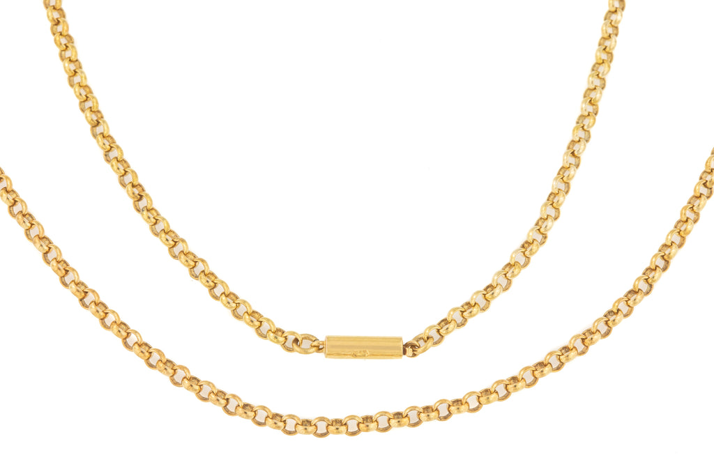 "Edwardian Gold Belcher Chain, 20"" (7.7g)"