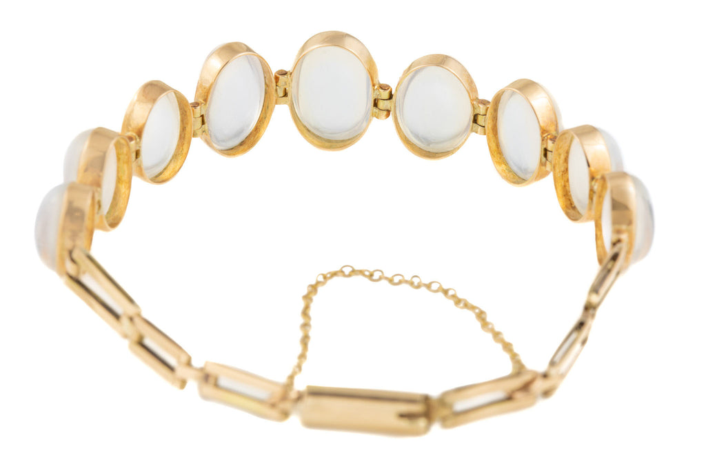 Antique 15ct Gold Moonstone Bracelet, (18.08ct)