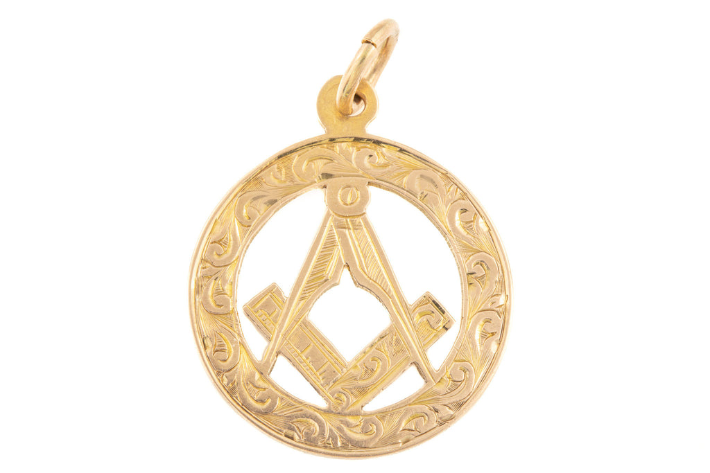Edwardian Gold Masonic Pendant c.1906