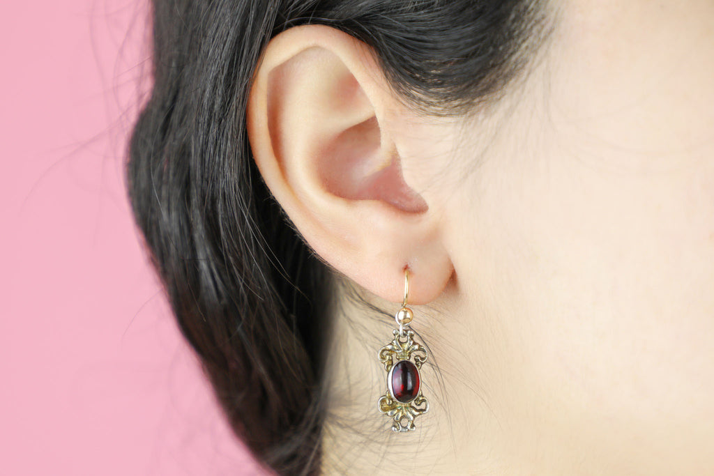 Austro-Hungarian Garnet Earrings (3.78ct)